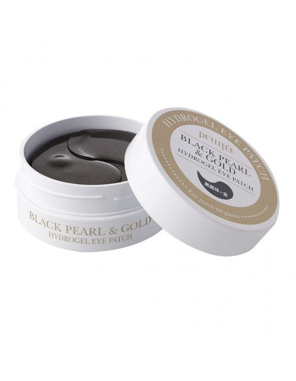 Petitfee, Гидрогелевые патчи Black Pearl & Gold Hydrogel Eye Patch